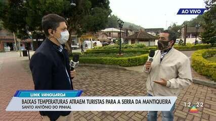 Mesmo com pandemia, frio atrai turistas para Santo Antônio do Pinhal