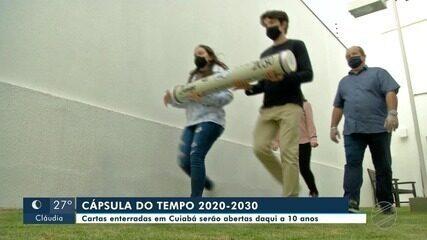 Cartas escritas e enterradas numa cápsula em Cuiabá serão abertas em 2030