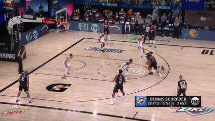Melhores momentos: Oklahoma City Thunder 117 x 114 Houston Rockets pela NBA