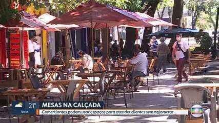 Restaurantes podem usar calçadas em BH; e parques municipais preparam reabertura