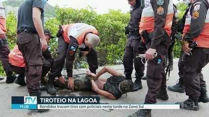 Bandidos trocam tiros com policiais na Lagoa