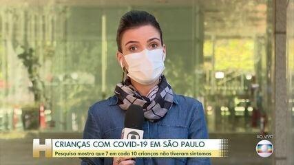 7 em cada 10 crianças de São Paulo com Covid-19 não tiveram sintomas