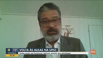 Saiba como vai funcionar retorno remoto das atividades na UFSC