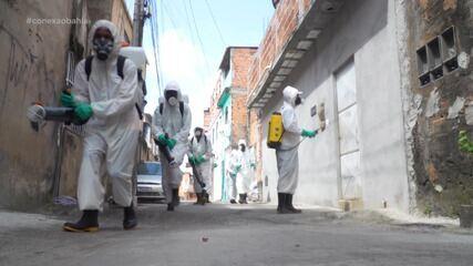 Ação higieniza ruas do Complexo Nordeste de Amaralina para evitar transmissão do Covid-19
