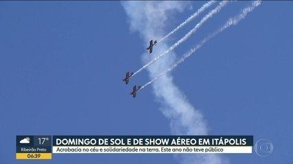 Domingo de sol e de show aéreo em Itápolis