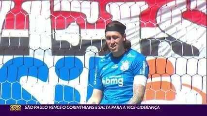 São Paulo vence Corinthians e salta para a vice-liderança