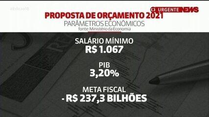 Proposta do orçamento para 2021 prevê apenas R$ 22 de aumento no salário mínimo