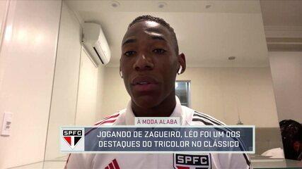 À moda Alaba? Destaque contra o Corinthians como zagueiro, Léo fala sobre vitória e mudança de posição no São Paulo