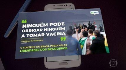 Peça publicitária do governo repete fala de Bolsonaro contra obrigatoriedade de vacinas