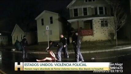 Cidadão negro morre de asfixia após operação da polícia nos EUA