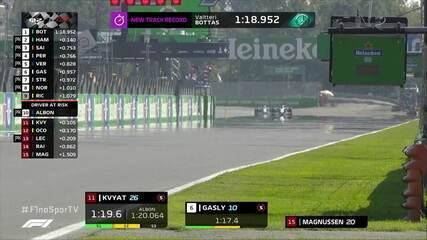 Veja o minuto final do Q2 do treino do GP da Itália