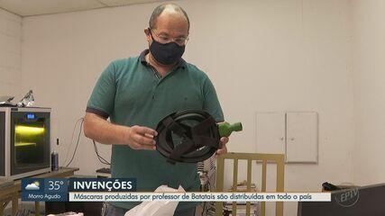 Professor de Batatais produz máscaras especiais contra a Covid-19