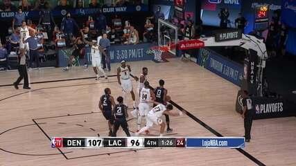 Melhores momentos de Los Angeles Clippers 101 x 110 Denver Nuggets, pela NBA