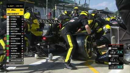 GP da Itália: pilotos param quando o box abre