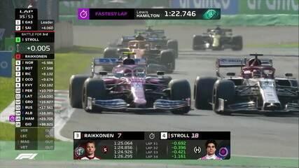 GP da Itália: Stroll ultrapassa Raikkonen