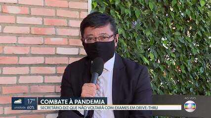 Trecho de entrevista com Osnei Okumoto, secretário interino de saúde do DF