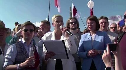 Governo de Belarus prende uma das líderes de oposição ao presidente