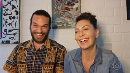 Fabiula Nascimento e Emilio Dantas contam que transformaram a casa em um estúdio para 'Amor e Sorte'
