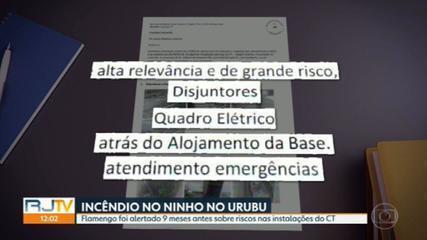 Flamengo foi alertado 9 meses antes sobre riscos nas instalações do Centro de Treinamento