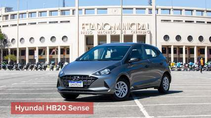 Hyundai HB20 Sense é boa opção entre carros populares; G1 andou