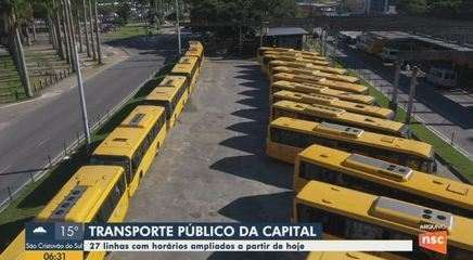 Transporte público em Florianópolis tem ampliação de horários em 27 linhas