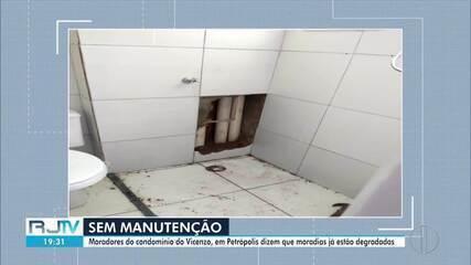 Moradores do condomínio do Vicenzo,em Petrópolis, reclamam de condições das unidades