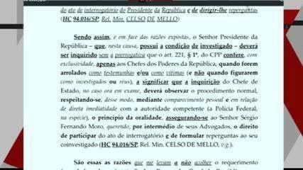 Celso de Mello determina que Bolsonaro preste depoimento presencial