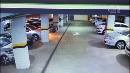 Câmeras flagram homem ateando fogo no carro da ex-namorada, no DF