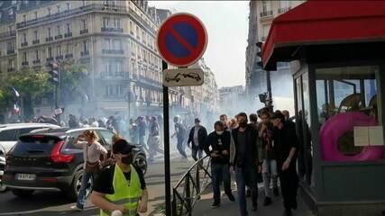Coletes Amarelos voltam a protestar contra o governo francês