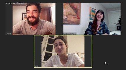 Luisa Arraes e Caio Blat contam como foi gravar a nova série da Globo, Amor e Sorte