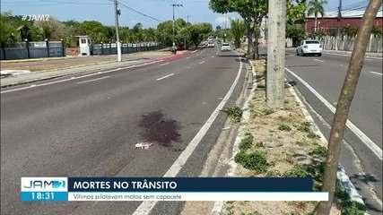Acidentes deixam motociclistas mortos em Manaus