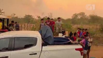 45 indígenas são retirados de local onde moram por causa de incêndios