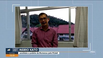 Eleições 2020: PCdoB define Mário Kato como candidato a prefeito de Blumenau