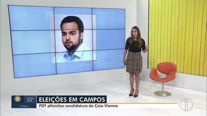 PDT oficializa candidatura de Caio Vianna à Prefeitura de Campos, no RJ
