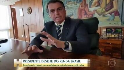 Presidente Bolsonaro desiste de criar o Renda Brasil para substituir o Bolsa Família