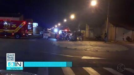 Vídeo mostra resgate dos bombeiros após acidente no Bairro Santa Mônica em Uberlândia