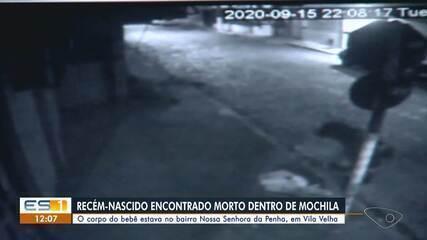 Corpo de recém-nascido foi encontrado dentro de mochila em Vila Velha