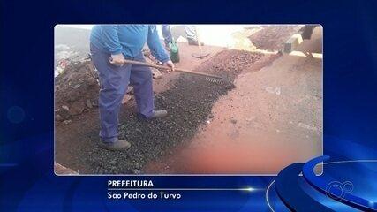 Protesto contra atropelamento de criança destrói asfalto em São Pedro do Turvo