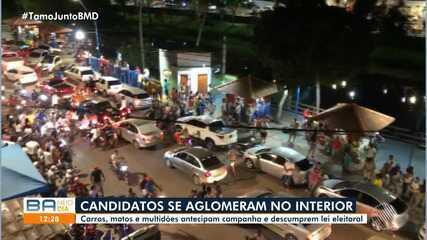 Candidatos à prefeituras do interior promovem encontros e aglomerações na Bahia; confira