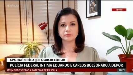 Policia Federal intima Eduardo e Carlos Bolsonaro a depor
