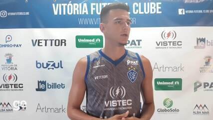 Ewerton fala da sua ascensão e adaptação ao time do Vitória-ES