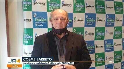 Eleições 2020: Podemos define candidato a prefeito de Criciúma