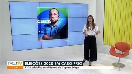 PSDB oficializa a candidatura de Capitão Diogo à Prefeitura de Cabo Frio, no RJ