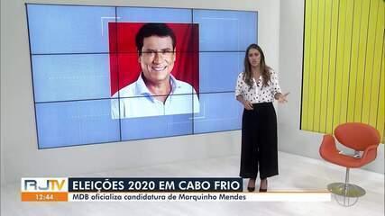 MDB oficializa candidatura de Marquinho Mendes à Prefeitura de Cabo Frio, no RJ
