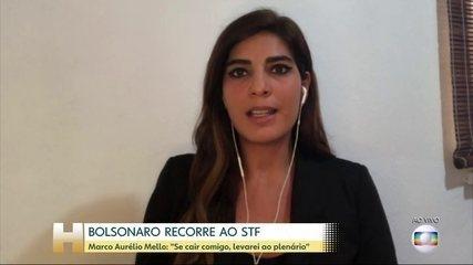 'Se cair comigo, levarei ao plenário', diz Marco Aurélio sobre recurso de Bolsonaro