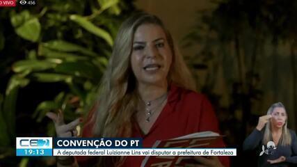 PT oficializa candidatura de Luizianne Lins a prefeitura