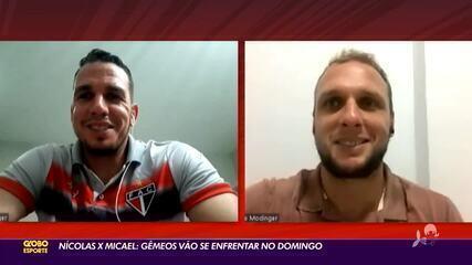 Confira a história de Nícolas e Micael: rivais em campo no domingo, mas com muito em comum