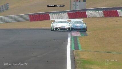 Gui Salas tem pneu furado após disputa de posição com Felipe Massa na volta 74