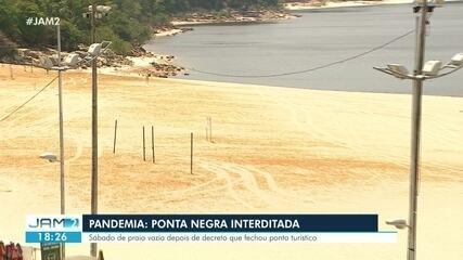 Ponta Negra em Manaus é interditada após aumento de casos da Covid-19