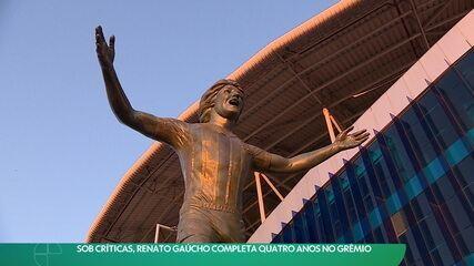 Renato Gaúcho completa 4 anos no comando do Grêmio